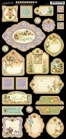 Graphic 45 - Secret Garden Collection - Chipboard Die Cuts 2