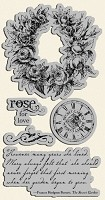Graphic 45 - Secret Garden Collection - Cling Stamp 2