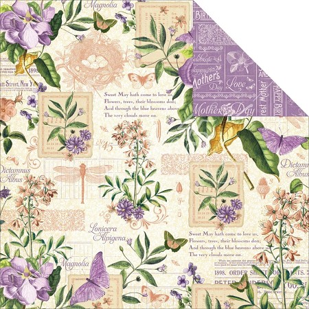 "Graphic 45 - Time to Flourish Collection - 12""x12"" cardstock - May Flourish"
