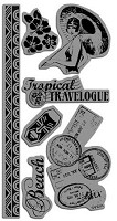 Hampton Arts - Graphic 45 - Cling Stamp Set - Tropical Travelogue #1