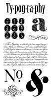 Graphic 45/Hampton Arts - Typography Collection - Cling Stamp 1