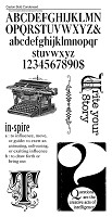 Graphic 45/Hampton Arts - Typography Collection - Cling Stamp 3