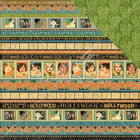 "Graphic 45 - Vintage Hollywood Collection - 12""x12"" cardstock - Glitz & Glammour"