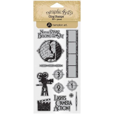 Graphic 45 - Vintage Hollywood Collection - Cling Stamps 1