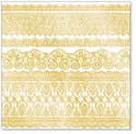 "Hambly Studio 12""x12"" overlays - Old Lace - Metallic Gold"