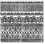 "Hambly Studio 12""x12"" overlays - Old Lace - Black"