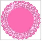 "Hambly Studio 12""x12"" overlays - Antique Doily - Pink"
