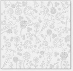"Hambly Studio 12""x12"" overlays - Embroidery - White"
