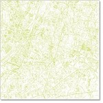"Hambly Studio 12"" x 12"" overlays - Streets of Paris - Antique Lime Green"