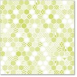 "Hambly Studio 12"" x 12"" overlays - Honeycomb - Antique Lime"
