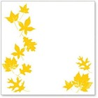 "Hambly Studio 12""x12"" overlays - Falling Leaves Yellow Overlay"