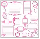 "Hambly Studio 12""x12"" overlays - Journaling Pink Overlay"