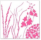 "Hambly Studio 12""x12"" overlays - Twigs & Weeds Pink Overlay"
