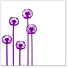 "Hambly Studio 12""x12"" overlays - Five Dandelions Purple Overlay"
