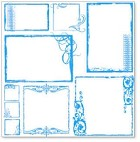 "Hambly Studio 12""x12"" overlays - Urban Chic Frames Blue Overlay"