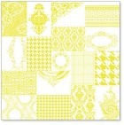 "Hambly Studio 12""x12"" overlays - ATC Patchwork Yellow"