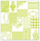 "Hambly Studio 12""x12"" overlays - ATC Patchwork Lime"