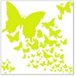 "Hambly Studio 12""x12"" overlays - Lime Green Wings"