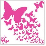 "Hambly Studio 12""x12"" overlays - Pink Wings"