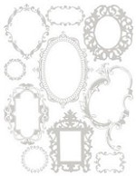 Hambly studios rub ons -Antique Frames Silver