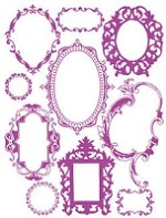 Hambly studios rub ons - Antique Frames Magenta