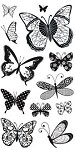 Hampton Art-4x8 Clear Stamp Set-Patterned Butterfly