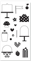 Hampton Art - Doodlebug Design  - Clear Stamp -Sweet Cakes