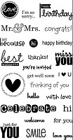 Hampton Art - Doodlebug Design  - Clear Stamp - You Said It