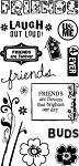Hampton Art-4x8 Clear Stamp Set-Friends