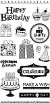 Hampton Art-4x8 Clear Stamp Set-Happy Birthday
