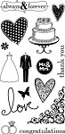 Hampton Art-4x8 Clear Stamp Set-Wedding