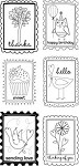 Hampton Art-4x8 Clear Stamp Set-Block Words Phrases