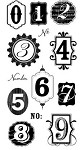 Hampton Art-4x8 Clear Stamp Set-Numbers