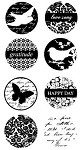 Hampton Art-4x8 Clear Stamp Set-Circle Birds