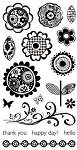 Hampton Art-4x8 Clear Stamp Set-Blossom Setiments