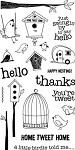 Hampton Art-4x8 Clear Stamp Set-Home Tweet Home