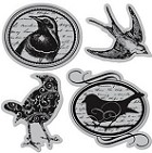 Hampton Art-Cling Stamp Set-Birds