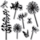 Hampton Art-Cling Stamp Set-Dandelions