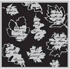 Hampton Art-Cling Stamp Set-I Cling Leaf Collage