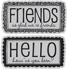 Hampton Art-Cling Stamp Set-I Cling We're Friends