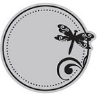 Hampton Art-Cling Stamp Set-I Cling Dragonfly Circle