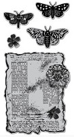 Hampton Art - Diffusion -Airstamps  Cling Stamp Set - Butterflies Are Free