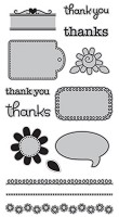 Hampton Art - Doodlebug Design  - Cling Mounted Stamp - Thankful