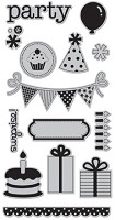Hampton Art - Doodlebug design  - Cling Mounted Stamp - Party Time