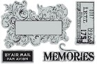 Hampton Art - 7 Gypsies - Cling Stamp Set - Memories