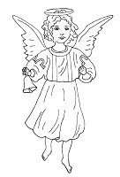 Hampton Art - Melissa Frances - Cling Mounted Rubber Stamp - Angelic Tidings