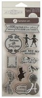 Hampton Art - Authentique - Cling Stamp Set - Footloose