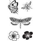 Hampton Arts - Graphic 45 - Cling Stamp Set - Butterfly Specifics