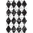 Hampton Arts - Graphic 45 - Cling Stamp Set - Harlequin Background