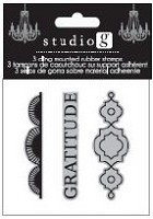 Hampton Arts - Cling Stamp Set - Gratitude